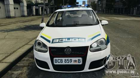 Volkswagen Golf 5 GTI South African Police [ELS] pour GTA 4 vue de dessus