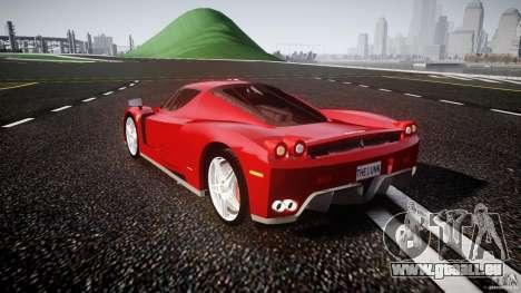 Ferrari Enzo pour GTA 4 Vue arrière de la gauche