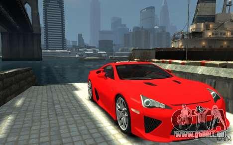 Lexus LFA v1.0 pour GTA 4 Vue arrière
