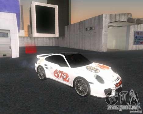Porsche 911 GT2 (997) pour GTA San Andreas vue de droite