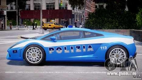 Lamborghini Gallardo LP560-4 Polizia pour GTA 4 Vue arrière de la gauche