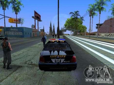 Ford Crown Victoria Erie County Sheriffs Office für GTA San Andreas rechten Ansicht