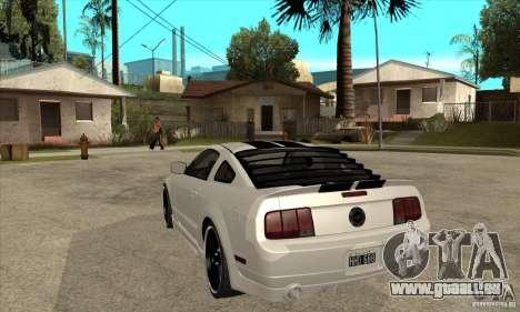 Ford Mustang für GTA San Andreas zurück linke Ansicht