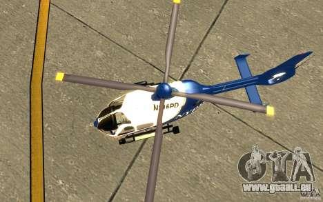 NYPD Eurocopter von SgtMartin_Riggs für GTA San Andreas Rückansicht