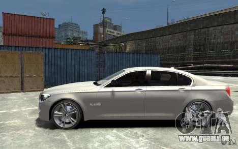 BMW 750i F01 v3 pour GTA 4 est une gauche