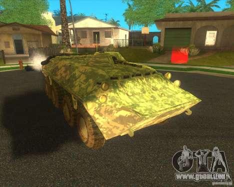 BTR-80 électronique camouflage pour GTA San Andreas laissé vue