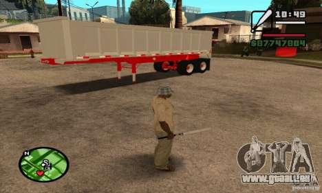 Artict3 Dump Trailer für GTA San Andreas Innenansicht