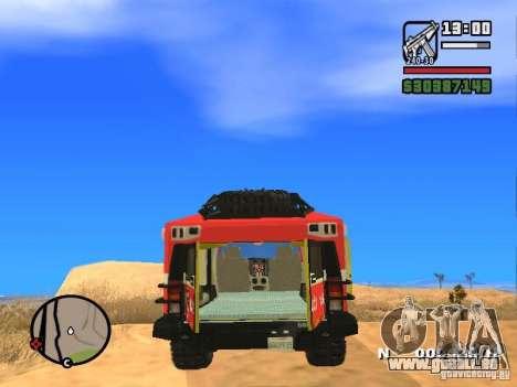 HZS Hummer H2 für GTA San Andreas zurück linke Ansicht