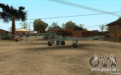 Le Su-25 pour GTA San Andreas vue de droite