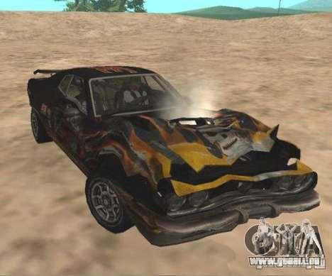 Bullet from FlatOut 2 pour GTA San Andreas sur la vue arrière gauche