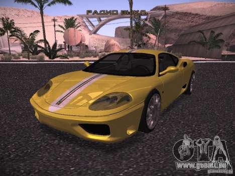 Ferrari 360 Modena pour GTA San Andreas vue intérieure