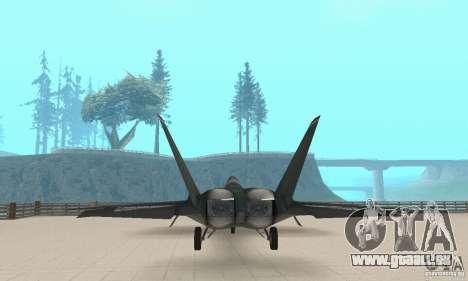 Y-f22 Lightning pour GTA San Andreas vue arrière