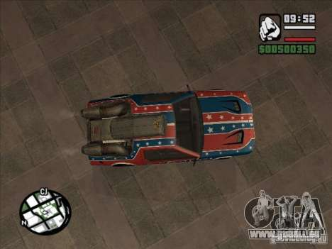 Voitures de Flatout 2 pour GTA San Andreas sur la vue arrière gauche