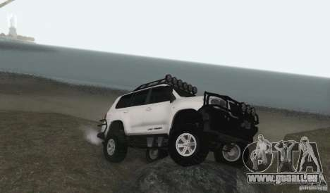 Toyota Land Cruiser 200 Off Road v1.0 pour GTA San Andreas sur la vue arrière gauche