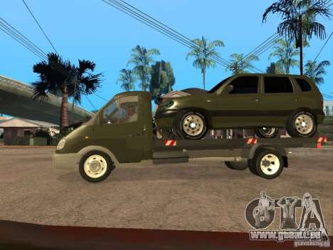 GAZ 3302 v 1.2 (Gazelle dépanneuse) pour GTA San Andreas laissé vue