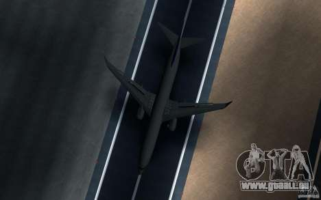 Sukhoi SuperJet-100 für GTA San Andreas Rückansicht