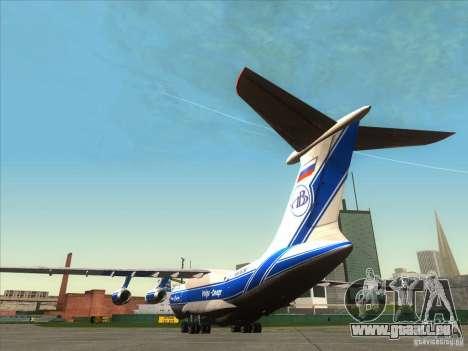 IL 76 m Aeroflot pour GTA San Andreas sur la vue arrière gauche
