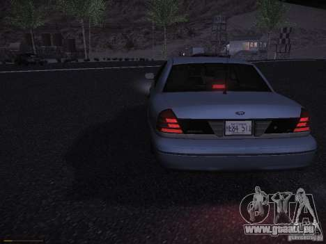 Ford Crown Victoria 2003 für GTA San Andreas Rückansicht