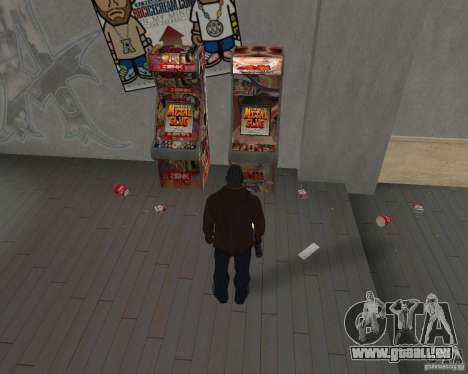 Nouvelles textures, des restaurants et des bouti pour GTA San Andreas troisième écran