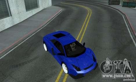 Lamborghini Murcielago Tuned pour GTA San Andreas vue de dessus