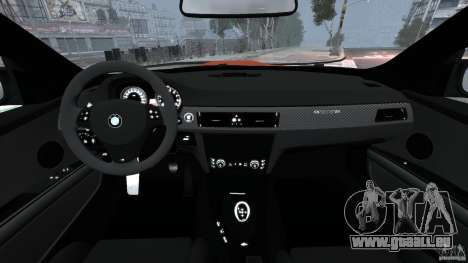 BMW M3 GTS 2010 pour GTA 4 Vue arrière