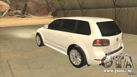 Volkswagen Touareg R50 pour GTA San Andreas sur la vue arrière gauche