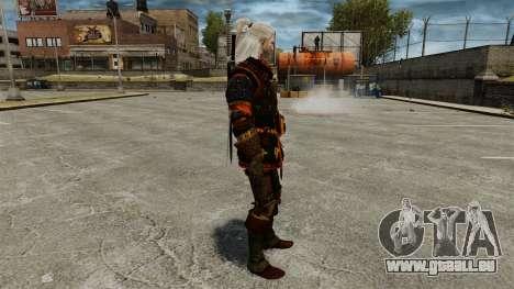 Geralt de Rivia v4 pour GTA 4 secondes d'écran