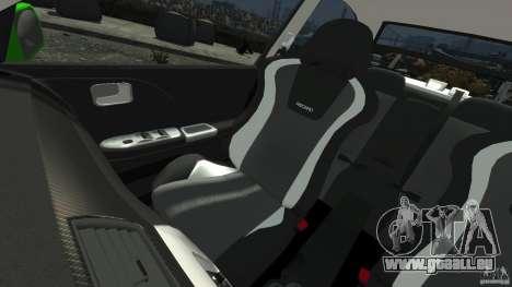 Mitsubishi Lancer Evo IX Tuning für GTA 4 obere Ansicht