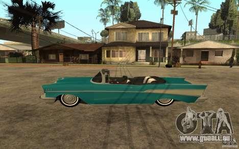 Chevrolet Bel Air 1956 Convertible pour GTA San Andreas laissé vue