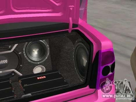 Lada Priora Emo pour GTA San Andreas vue de dessous