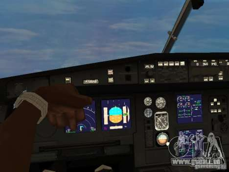 Airbus A340-300 Air Canada pour GTA San Andreas vue arrière