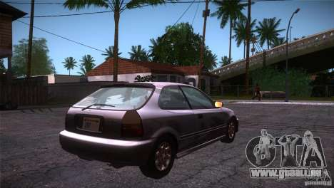 Honda Civic Tuneable pour GTA San Andreas vue de droite