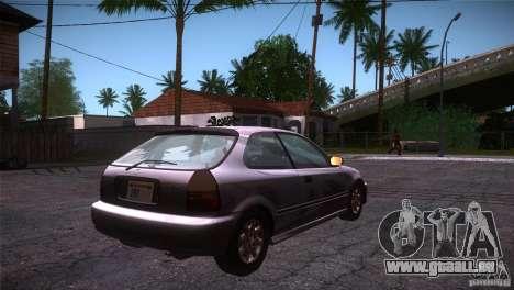 Honda Civic Tuneable für GTA San Andreas rechten Ansicht