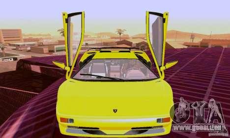 Lamborghini Diablo SV 1997 pour GTA San Andreas laissé vue