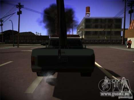 Camion de remorquage Sadler pour GTA San Andreas sur la vue arrière gauche