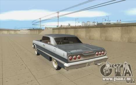 Voodoo pour GTA San Andreas sur la vue arrière gauche