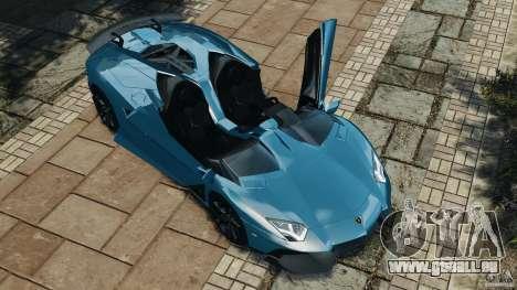 Lamborghini Aventador J 2012 v1.2 pour GTA 4 vue de dessus