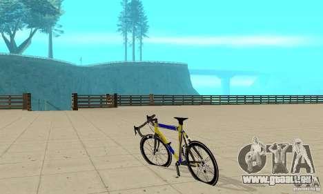 Racing Cycle Turmac Legnano pour GTA San Andreas sur la vue arrière gauche