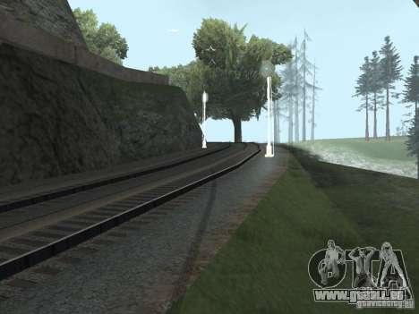 Feux de circulation ferroviaire 2 pour GTA San Andreas troisième écran