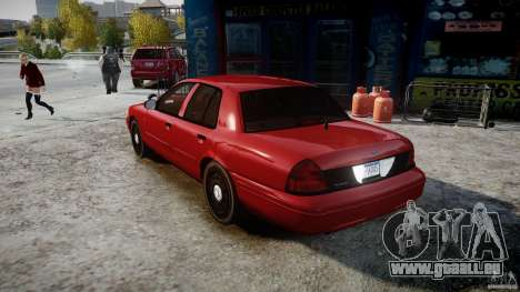 Ford Crown Victoria Detective v4.7 red lights pour GTA 4 Vue arrière de la gauche