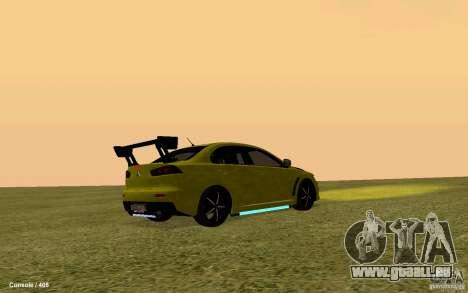 Mitsubishi Lancer Evolution Drift für GTA San Andreas zurück linke Ansicht