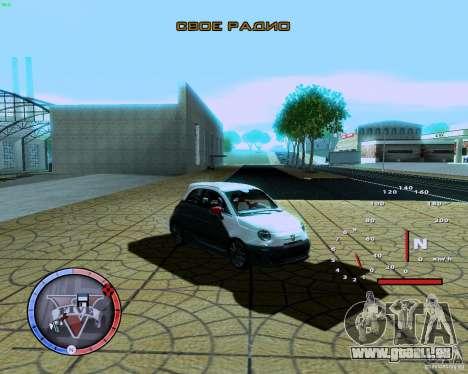 Fiat 500 Abarth für GTA San Andreas linke Ansicht