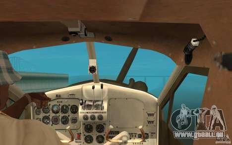 De Havilliand Beaver DHC2 für GTA San Andreas Innenansicht