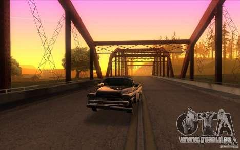 Chevrolet Apache Fleetside 1958 pour GTA San Andreas vue arrière