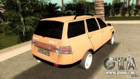 VAZ 2111 pour GTA Vice City sur la vue arrière gauche