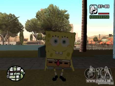Sponge Bob pour GTA San Andreas sixième écran