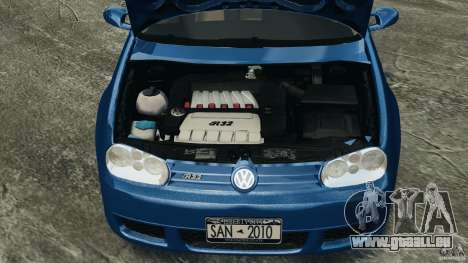 Volkswagen Golf 4 R32 2001 v1.0 pour GTA 4 est une vue de l'intérieur