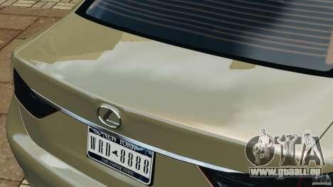 Lexus GS350 2013 v1.0 pour GTA 4 Salon
