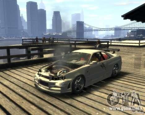 Nissan Skyline GT-R34 Nismo pour GTA 4 Vue arrière de la gauche