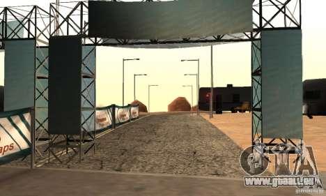 Piste pour la dérive, la grande oreille v1 pour GTA San Andreas deuxième écran